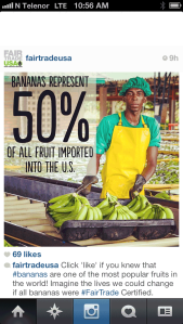 Bananas represent 50% of all fruit imported into the US.