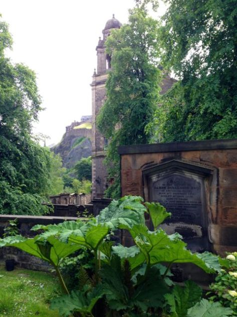 A glimpse of the fortress wall in Edinburgh.