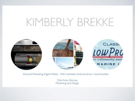KimberlyBrekke portfolio Inbound marketing digital media H2H marketing brand builder